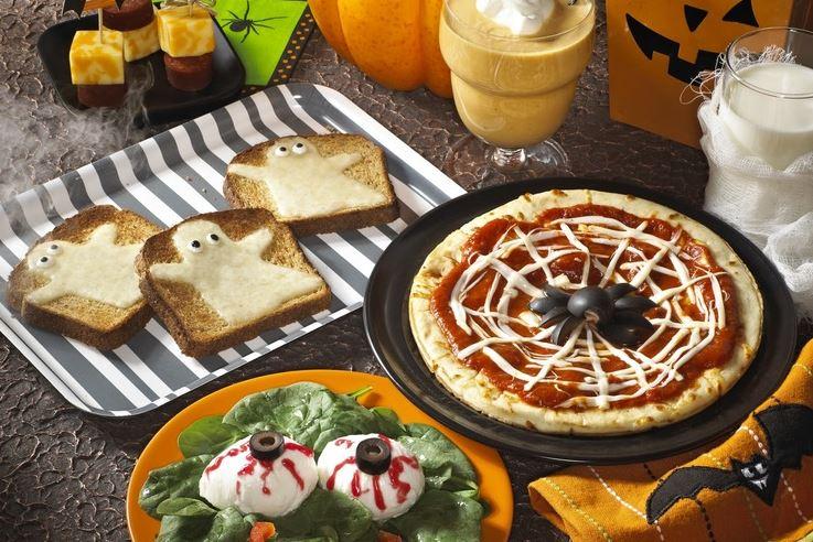 Оформление блюд на Хэллоуин