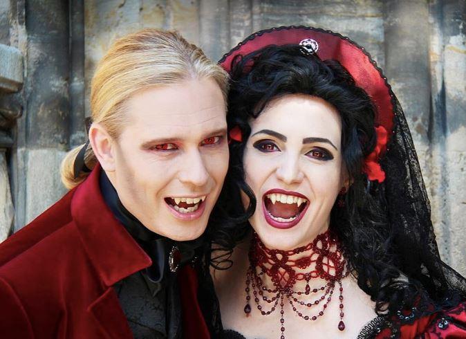 Образы вампиров на Хэллоуин