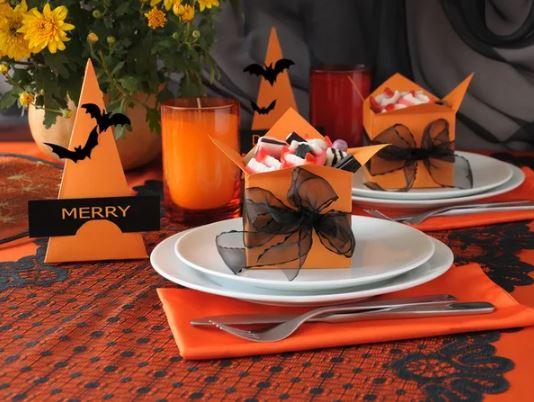 Оформление стола на Хэллоуин