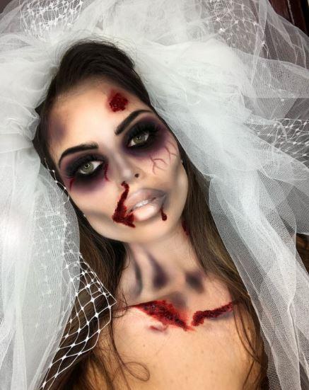 Грим на Хэллоуин с использованием крови
