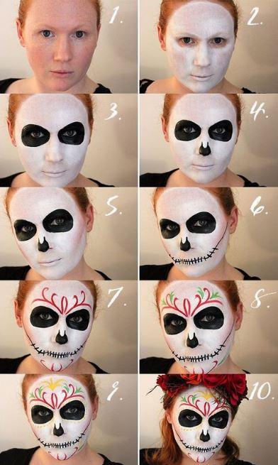 Инструкция по нанесению макияжа на Хэллоуин