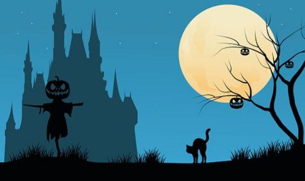 Картинка с символами осеннего праздника Хэллоуин