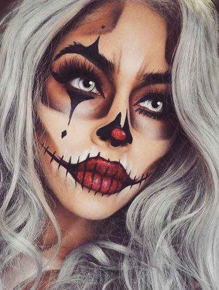 Картинка макияжа на Хэллоуин