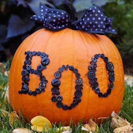 Необычное оформление тыквы на Хэллоуин