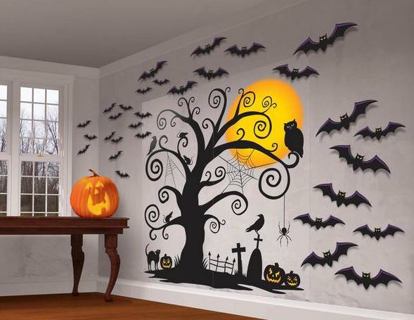 Украшение комнаты на Хэллоуин - Картинки на стене