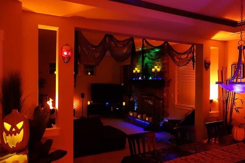 Оформление дома на Хэллоуин