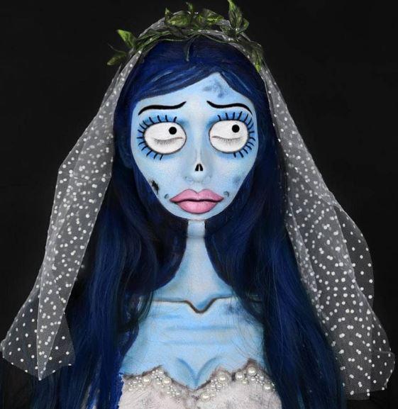 Макияж трупа невесты на Хэллоуин