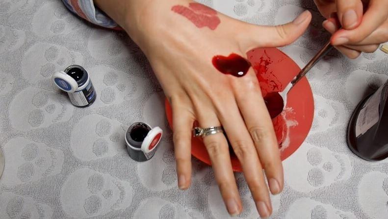 Создание искусственной крови дял макияжа