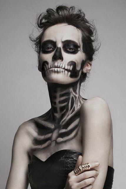 Образ скелета на Хэллоуин