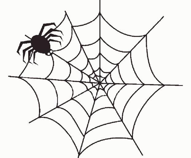 Рисунок паука на Хэллоуин