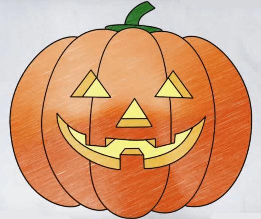 Рисунок тыквы на Хэллоуин