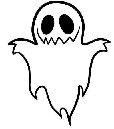 Рисунок привидения на Хэллоуин